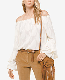 MICHAEL Michael Kors Paisley Off-the-Shoulder Top