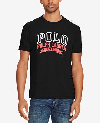 Men's Graphic Cotton T Shirt by Polo Ralph Lauren