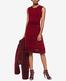 MICHAEL Michael Kors Lace-Hem Sweater Dress