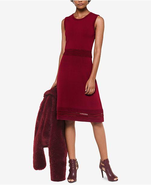 Michael Kors Lace-Hem Sweater Dress