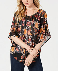 Style & Co Pintuck Peasant Top, Created for Macy's