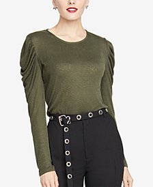 RACHEL Rachel Roy Gemima Drape-Shoulder Top, Created for Macy's