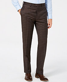 Lauren Ralph Lauren Men's Classic/Regular Fit Light Brown Pattern Wool Dress Pants