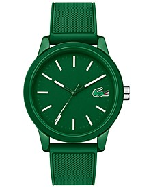 Men's 12.12 Green Silicone Strap Watch 42mm