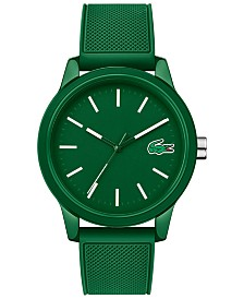 Lacoste Men's 12.12 Green Silicone Strap Watch 42mm