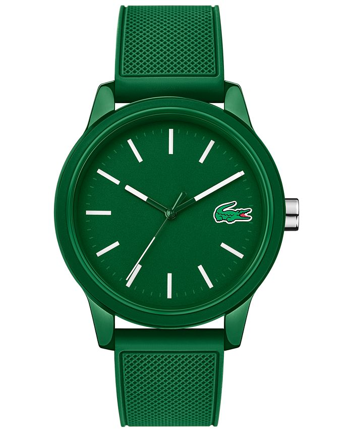 Lacoste - Men's 12.12 Green Silicone Strap Watch 42mm