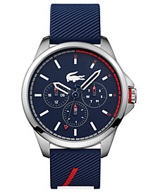 Lacoste Men's Capbreton Blue Silicone Strap Watch 46mm