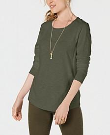 Long-Sleeve Crewneck Top, Created for Macy's