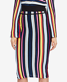 RACHEL Rachel Roy Multi-Stripe Pencil Skirt, Created for Macy's