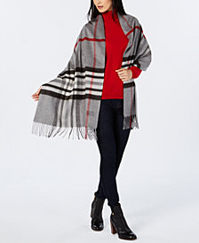 V. Fraas Exploded Plaid Soft Wrap