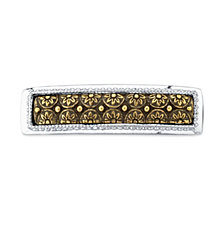 2028 Silver-Tone and Gold-Tone Floral Hair Barrette