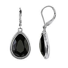 2028 Silver-Tone Faceted Pearshape Drop Earrings