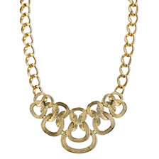 "2028 Gold-Tone Ornate Link Statement Necklace 16"" Adjustable"