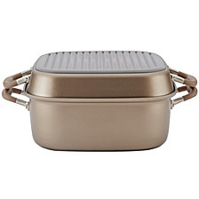 "Anolon Advanced Nonstick 2-in-1 Deep Square 11"" Grill Pan and Roaster"