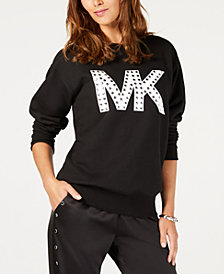 MICHAEL Michael Kors Studded MKGO Logo Sweatshirt, Regular and Petite Sizes