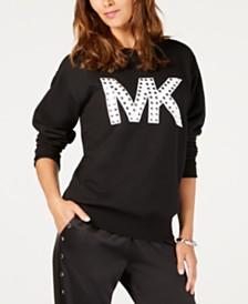 Michael Michael Kors Studded Logo Sweatshirt, Regular & Petite Sizes