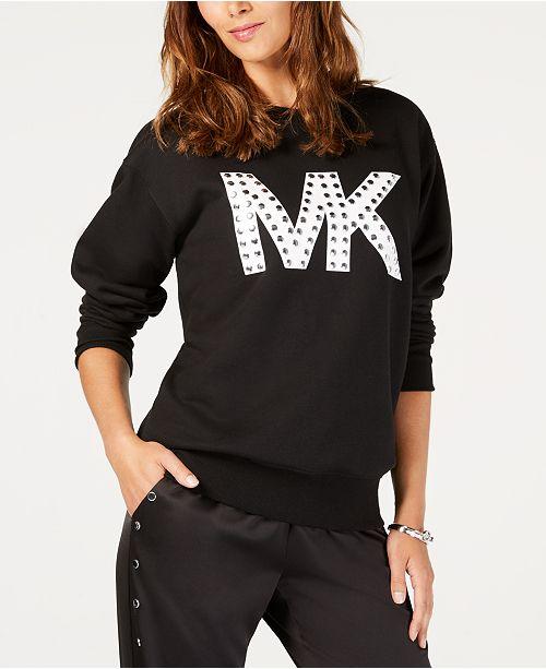 88d545fccf6 ... Michael Kors Studded MKGO Logo Sweatshirt