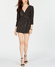 19 Cooper Metallic Twisted Romper