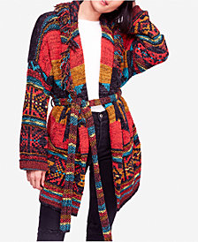 Free People Wild Wild West Belted Cardigan