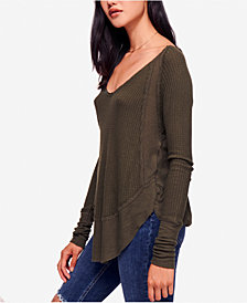 Free People Catalina Thermal Long-Sleeve Top & High-Rise Long and Lean Jeggings
