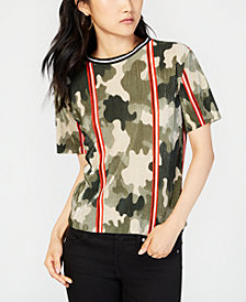 Gypsies & Moondust Juniors' Camo-Printed Bodre Top