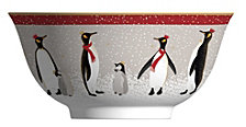 "Sara Miller Red Penguin 6"" Cereal Bowl"