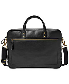 Fossil Men's Haskell Leather Briefcase