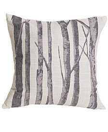 """18""""x18"""" Printed Branches Pillow"""
