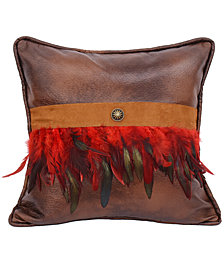 """18""""x18"""" Faux Leather Pillow"""