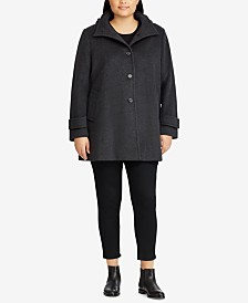 Lauren Ralph Lauren Plus Size Hooded Coat, Created For Macy's