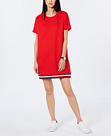 Tommy Hilfiger Sportswear Striped-Hem Sweatshirt Dress, Created for Macy's