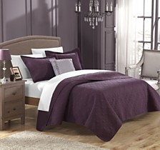 Chic Home Barcelo 4 Piece King Quilt Set