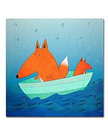 Carla Martell 'Fox in a Boat' Canvas Art Print Collection