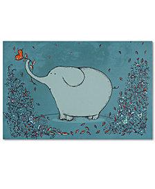 Carla Martell 'Garden Elephant' Canvas Art Print Collection