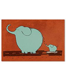 Trademark Global Carla Martell 'Skateboard Elephant' Canvas Art Print Collection