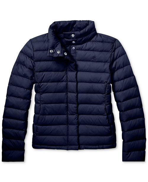 76aa9bb77 Polo Ralph Lauren Big Girls Lightweight Down Jacket & Reviews ...