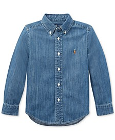 Toddler Boys Cotton Chambray Sport Shirt