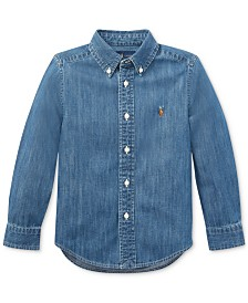 Polo Ralph Lauren Toddler Boys Cotton Chambray Sport Shirt