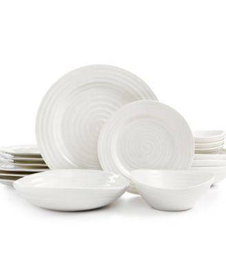 White Elements  Hampton Soft Square 42 Piece Dish Set