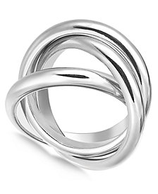 Alfani Silver-Tone 3-Pc. Set Stackable Rings, Created for Macy's