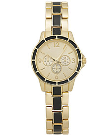 Charter Club Women's Chronograph Two-Tone Bracelet Watch 30mm, Created for Macy's