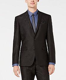 Bar III Men's Slim-Fit Black Jacquard Suit Jacket, Created for Macy's