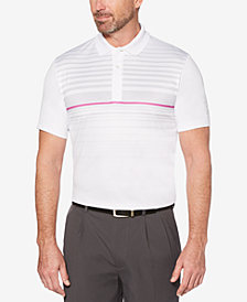 PGA TOUR Men's Ombré Engineered Stripe Golf Polo