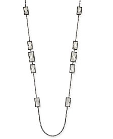"""Alfani Crystal Station Necklace, 42"""" + 2"""" extender, Created for Macy's"""