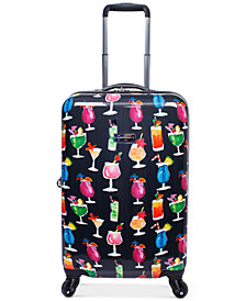 "Jessica Simpson Bottoms Up 20"" Carry-On Spinner Suitcase"