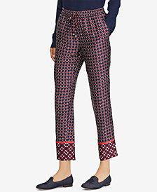 Lauren Ralph Lauren Geometric-Print Twill Pants