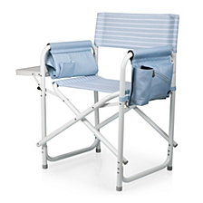 Picnic Time Outdoor Blue Directors Folding Chair