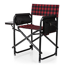 Picnic Time Outdoor Red Directors Folding Chair