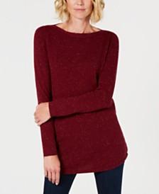 Karen Scott Textured Tunic Sweater, Created for Macy's