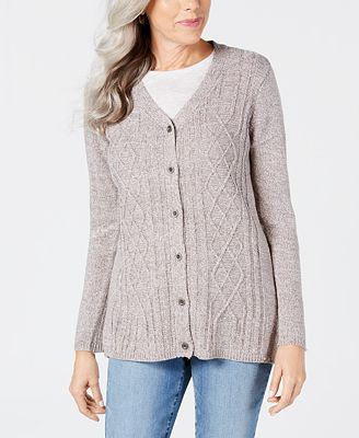 Karen Scott Long Sleeve V Neck Cardigan Created For Macys